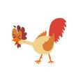 funny cackling hen comic cartoon chicken bird vector image