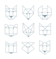 geometric animals vector image vector image
