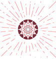 geometric sun emblem vector image