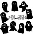 ghost silhouette with face vector image vector image