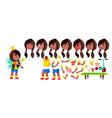 girl kindergarten kid black afro american vector image vector image