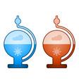glass liquid barometer vector image