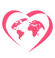 global love logo vector image vector image