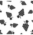 grape fruit with leaf seamless pattern background vector image