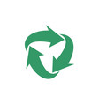 green recycle arrow logo template design eps 10 vector image vector image