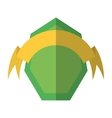 green shield and yellow ribbon shadow vector image