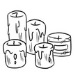 hand drawn candles doodles vector image