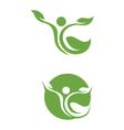 Healthy Logo Template vector image vector image