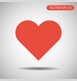 heart icon red color eps 10 vector image vector image
