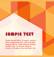hexagonal shape abstract background with free vector image vector image