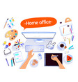 home office concept vector image vector image