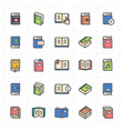 icon set - book full color vector image vector image