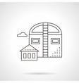 Industrial barns flat line icon vector image vector image