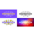 inspiration flat line concept for web banner and vector image vector image