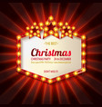 invitation merry christmas party vector image vector image