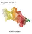 isolated icon turkmenistan map polygonal vector image vector image