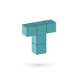 Letter T cube logo icon design template elements vector image