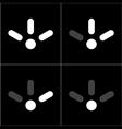 lifi icon set 2 vector image vector image