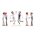 male friends meeting greeting vector image vector image