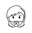 Man head icon Person design graphic vector image vector image