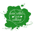 Of Isolated Green Cabbage Silhouette vector image vector image