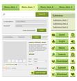 Online shop flat design elements set vector image