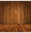 Realistic wood floor and wall for your design vector image
