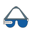 reality virtual glasses icon vector image