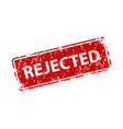 rejected stamp texture rubber cliche imprint web vector image