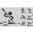 Rowing and Canoeing vector image