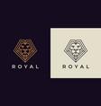 royal lion logo icon vector image