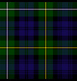 scottish plaid in green black blue vector image vector image