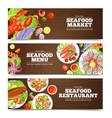 Seafood Banners Design vector image vector image