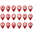 Set 18 sport red pointer vector image