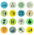 set of 16 authority icons includes special vector image vector image