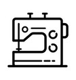 sewing machine editable outline sketch icon vector image