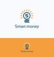 Smart money logo vector image vector image