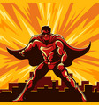 superhero watching over city vector image