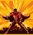 superhero watching over city vector image vector image