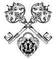 Tattoo Design of Lock ands Key vector image vector image