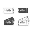ticket icon on black and white backgrounds vector image vector image