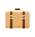 trip leather bag icon flat style vector image vector image