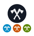 Two Crossed Axes Icon vector image vector image