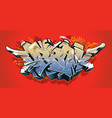 urban graffiti art vector image