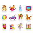 Various children toys vector image