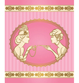 Vintage ladies card vector image vector image