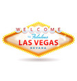 welcome to fabulous las vegas sign vector image vector image