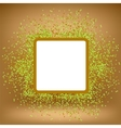 White Square Banner on Orange Gradient Background vector image vector image