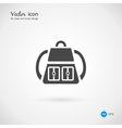 Single Gray Backpack Icon Design
