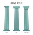 ancient tall column styles isolated cartoon vector image